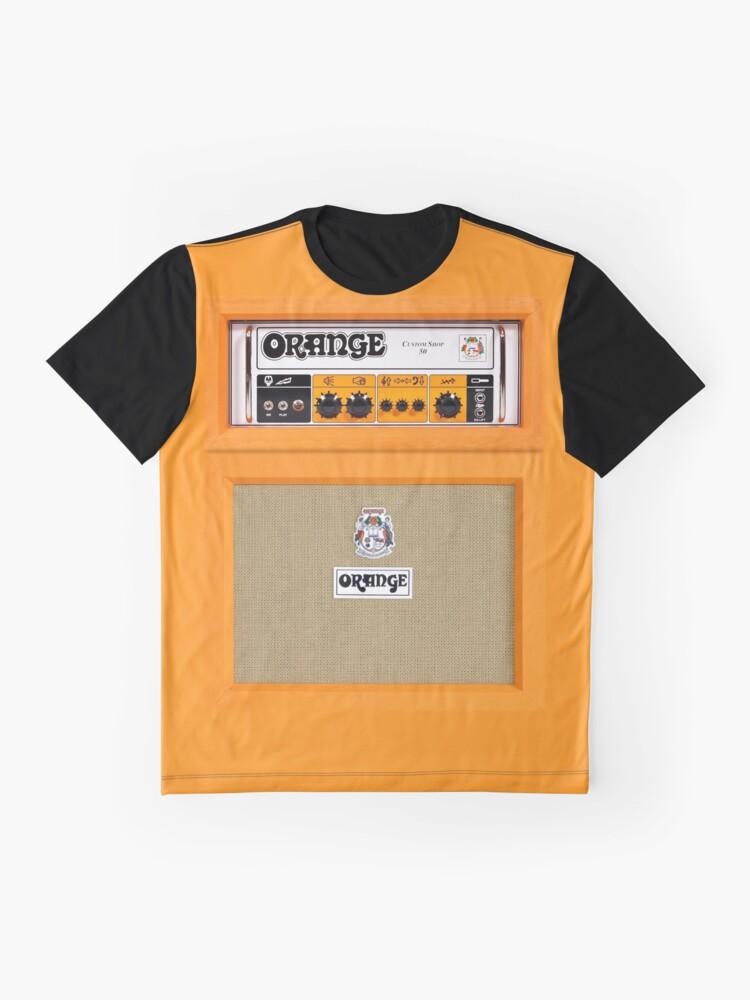 Vista alternativa de Camiseta gráfica Amplificador de amplificador de color naranja