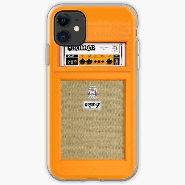 Orange color amp amplifier iPhone Soft Case