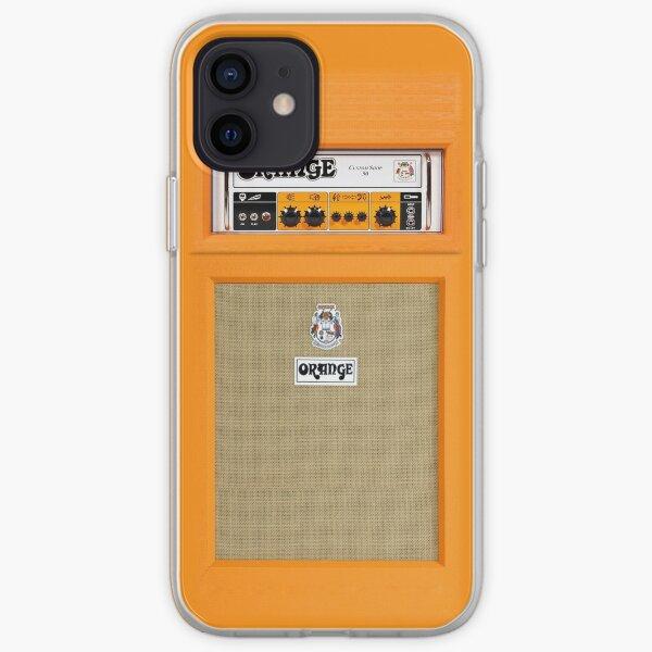 Amplificador de amplificador de color naranja Funda blanda para iPhone