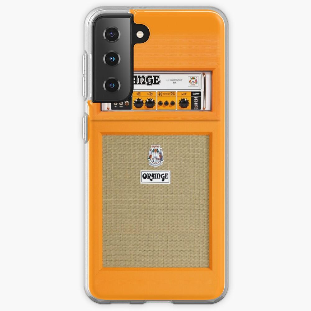 Orange color amp amplifier Case & Skin for Samsung Galaxy