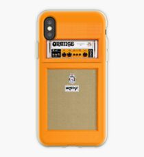 Orange color amp amplifier iPhone Case