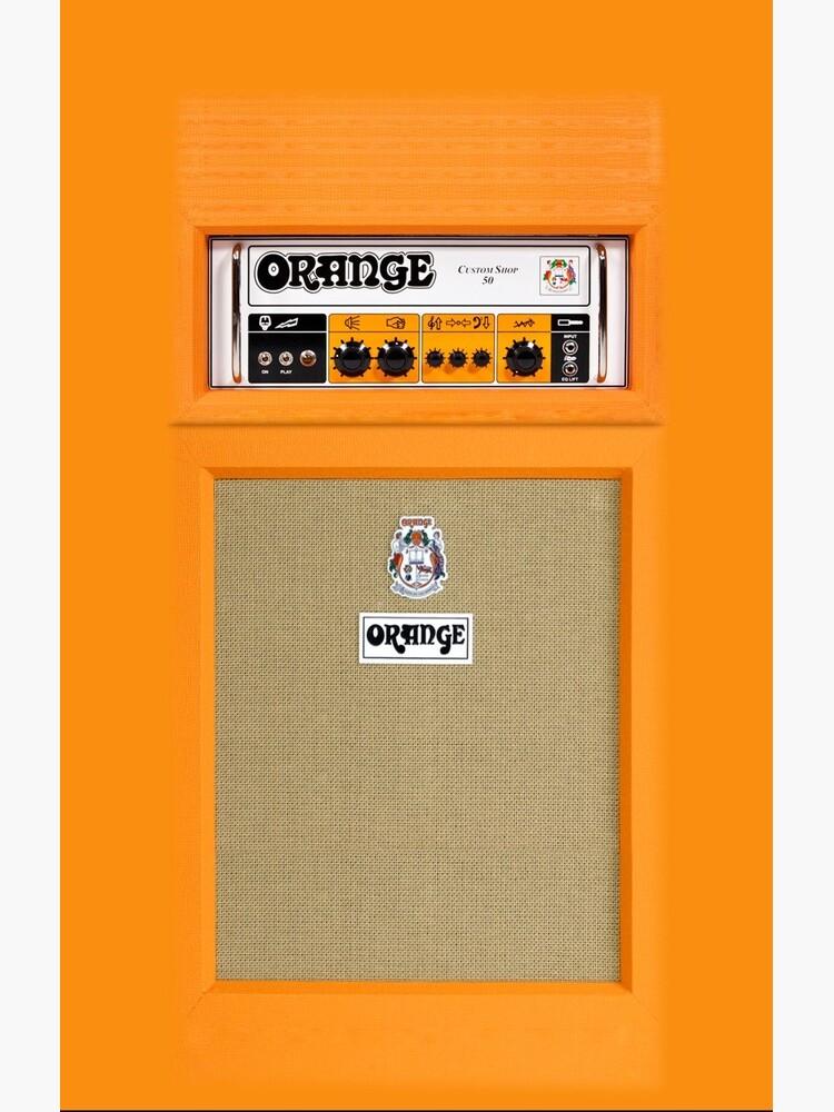 Orange color amp amplifier by GalihArt
