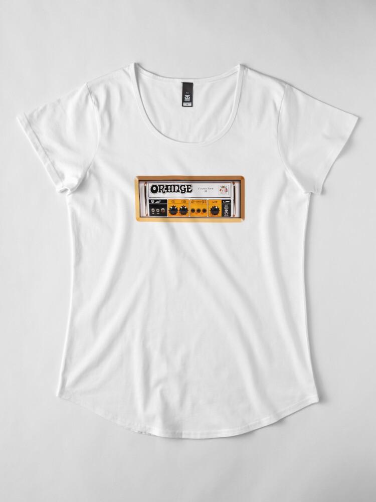 Vista alternativa de Camiseta premium para mujer Amplificador de amplificador de color naranja