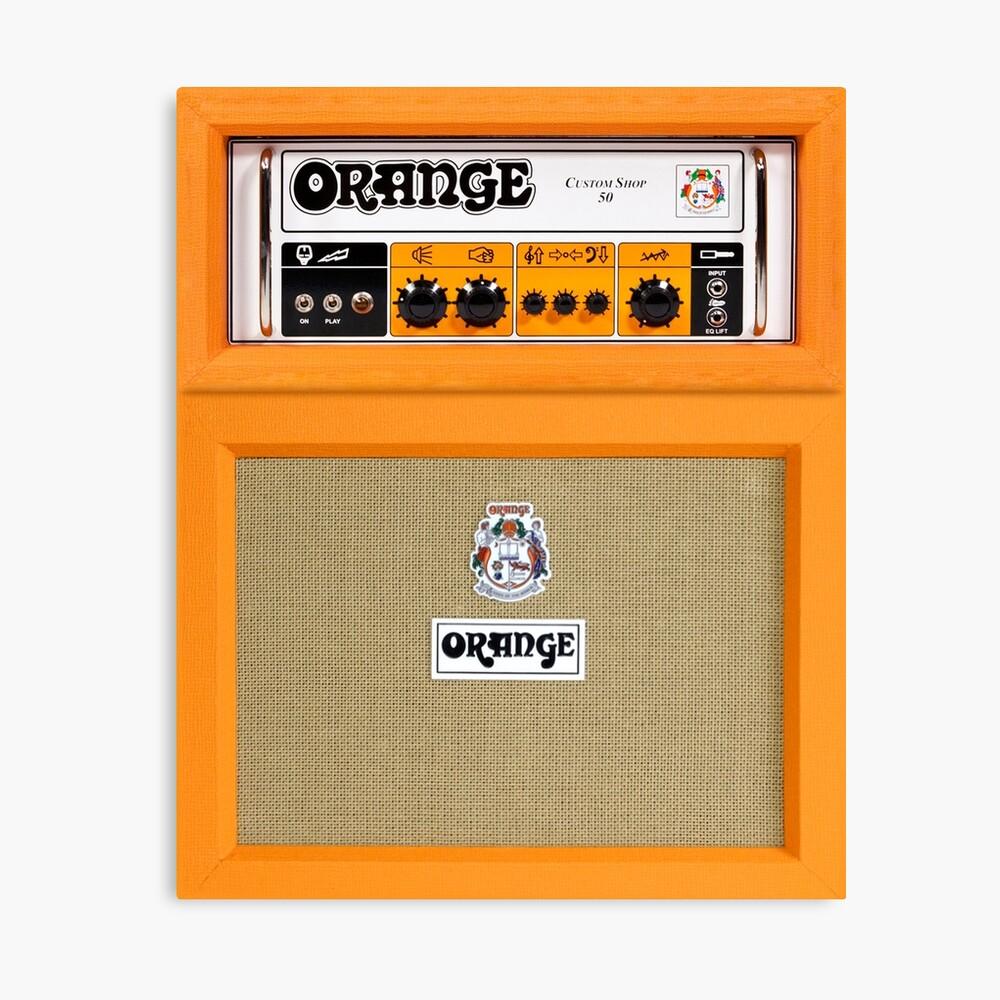 Amplificador de amplificador de color naranja Lienzo