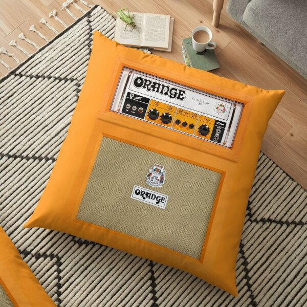 Orange color amp amplifier Floor Pillow