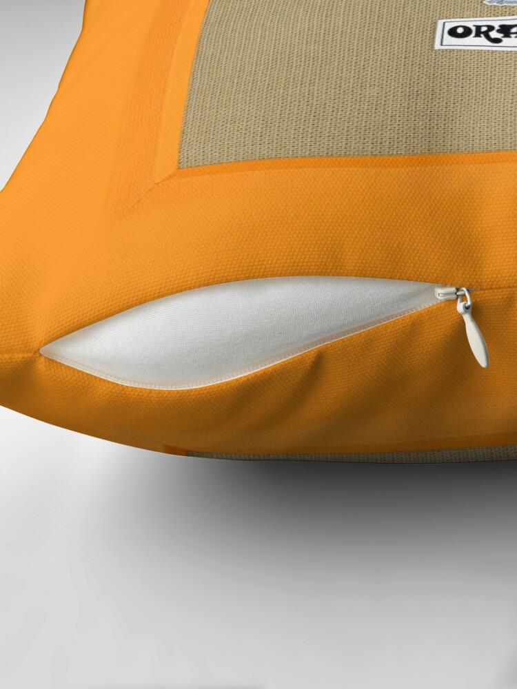 Alternative Ansicht von Orange Farbverstärker Bodenkissen