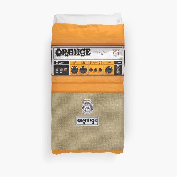 Orange color amp amplifier Duvet Cover