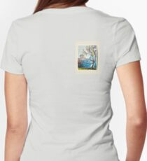 Abstract Tree Distorted Color Women's Fitted T-Shirt
