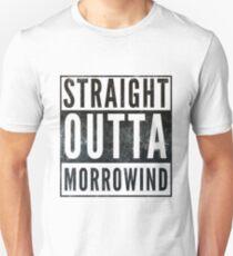 Straight Outta Morrowind (white bg) Unisex T-Shirt