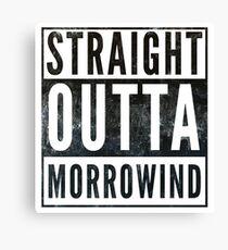 Straight Outta Morrowind (white bg) Canvas Print