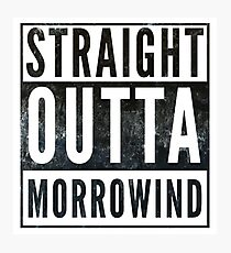 Straight Outta Morrowind (white bg) Photographic Print