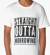 Straight Outta Morrowind (white bg) Long T-Shirt