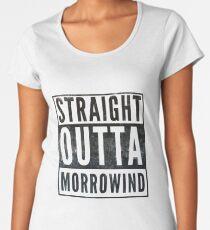 Straight Outta Morrowind (white bg) Women's Premium T-Shirt