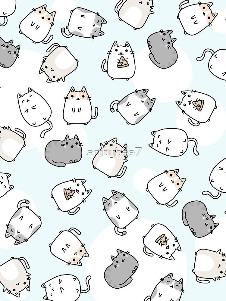 Cute Kawaii Cats Cat Pattern by artbybee7
