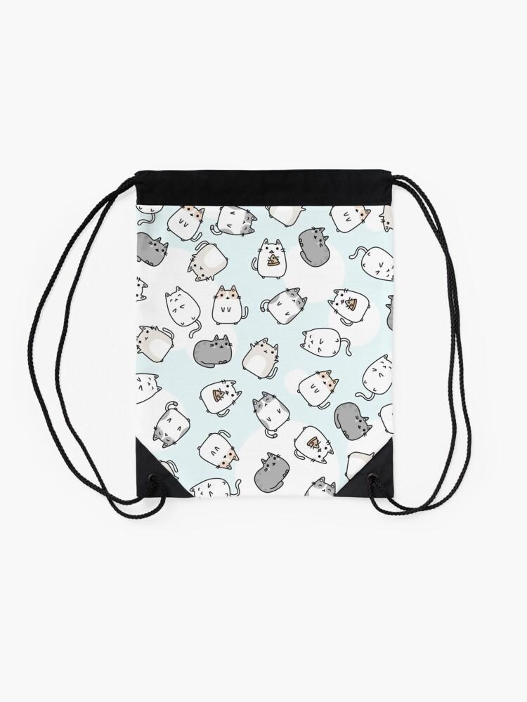 Alternate view of Cute Kawaii Cats Cat Pattern Drawstring Bag