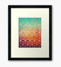 Pattern of squares with gold III Framed Print