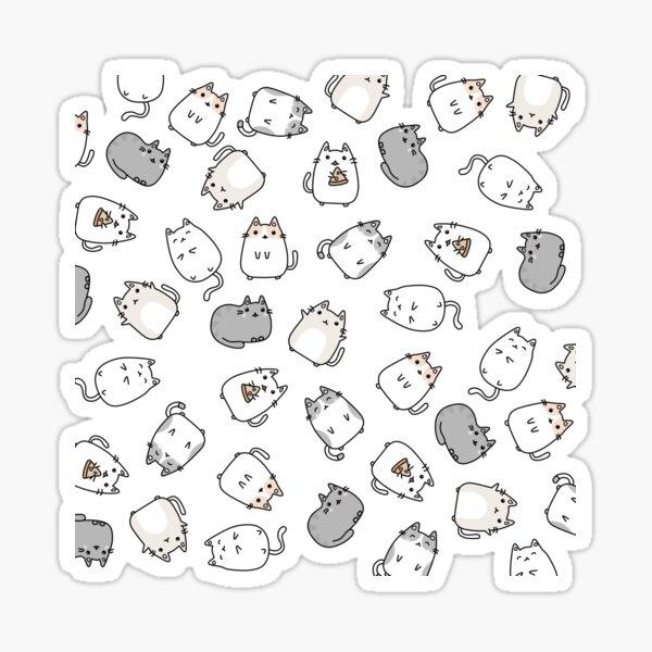 Cute Kawaii Cats Cat Pattern Sticker