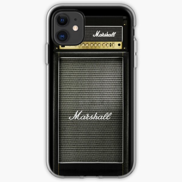 Black and gray color amp amplifier iPhone Soft Case