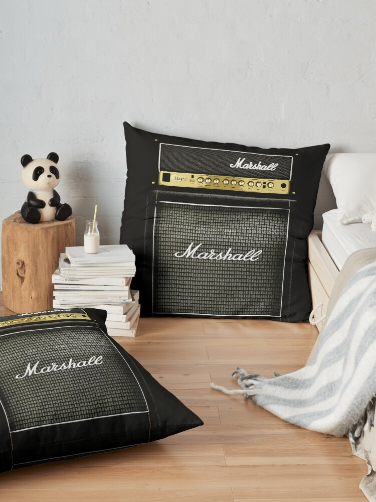 Alternate view of Black and gray color amp amplifier Floor Pillow