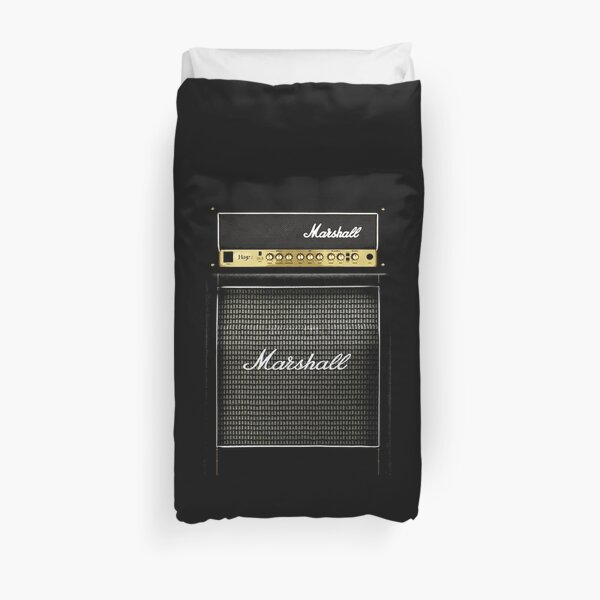 Black and gray color amp amplifier Duvet Cover