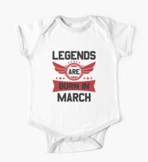 LEGENDS ARE BORN IN MARCH One Piece - Short Sleeve