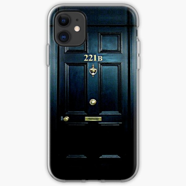 Haunted Blue Door with 221b number iPhone Soft Case