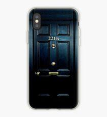 Haunted Blue Door with 221b number iPhone Case