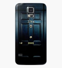 Haunted Blue Door with 221b number Case/Skin for Samsung Galaxy