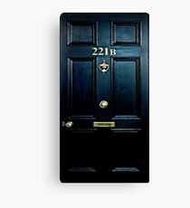 Haunted Blue Door with 221b number Canvas Print