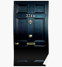 Haunted Blue Door with 221b number Poster