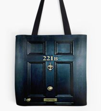 Haunted Blue Door with 221b number Tote Bag