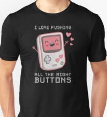 I Push All The Right Buttons - Valentines Day For Gamers  Unisex T-Shirt