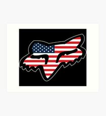 Fox Racing USA Art Print