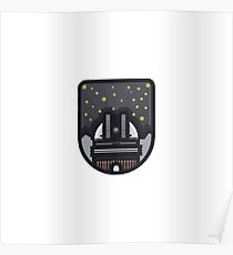 R2D2 Starwars Mini Logo Poster