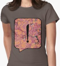 Exclamation Point Callout Bubble Women's Fitted T-Shirt