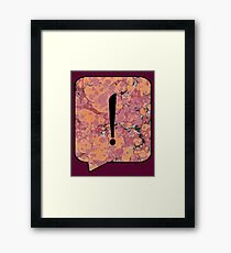 Exclamation Point Callout Bubble Framed Print