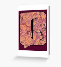 Exclamation Point Callout Bubble Greeting Card