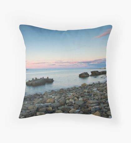 Calm at Westshore Throw Pillow