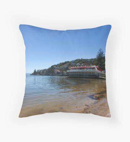 Summertime at Oriental Bay Throw Pillow