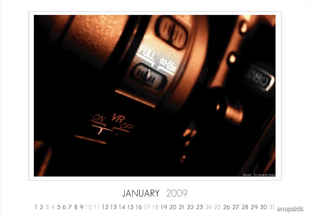 January 2009 Calendar by anupsids