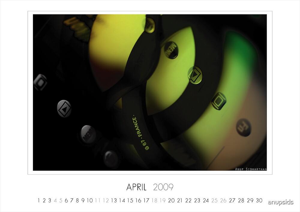 April 2009 Calendar by anupsids