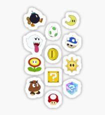 Mario Items Pattern Sticker