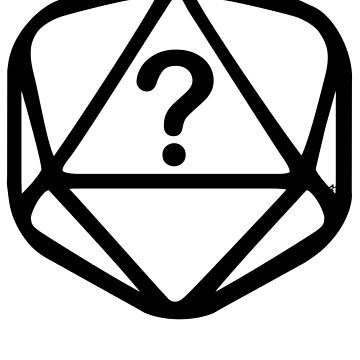 D20 Mystery Black Lines Dice Single by GrimsD20s