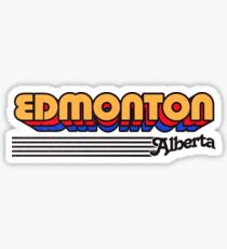 Edmonton, Alberta | Retro Stripes Sticker