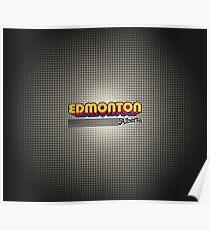 Edmonton, Alberta   Retro Stripes Poster