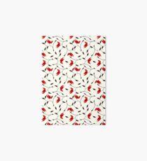 Delicate Red Flower Pattern Art Board