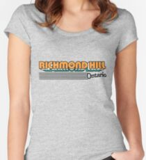 Richmond Hill, Ontario | Retro Stripes Women's Fitted Scoop T-Shirt