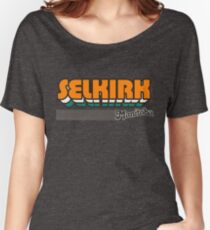 Selkirk, Manitoba | Retro Stripes Women's Relaxed Fit T-Shirt