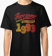 Awesome Since October 1993 Shirt Vintage 25th Birthday Classic T-Shirt