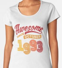 Awesome Since October 1993 Shirt Vintage 25th Birthday Women's Premium T-Shirt